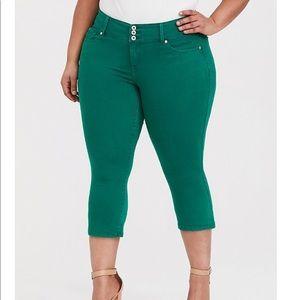 Torrid Emerald Crop Jeggings Plus Size 26